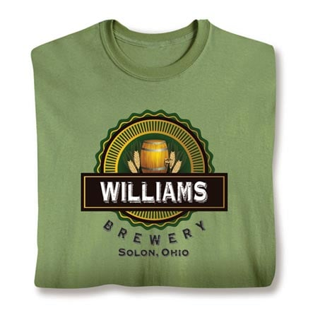 """Personalized """"Your Name & Location"""" Brewery Shirt"""