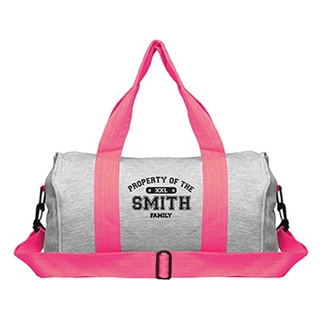 """Personalized Property of """"Your Name"""" Sports Duffel Bag"""