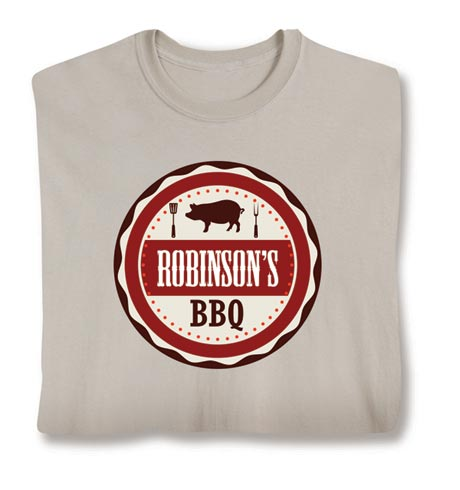 """Personalized """"Your Name"""" BBQ Smoker & Griller Shirt"""