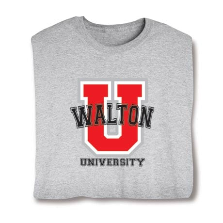 """Personalized """"Your Name"""" Red """"U"""" University Shirt"""