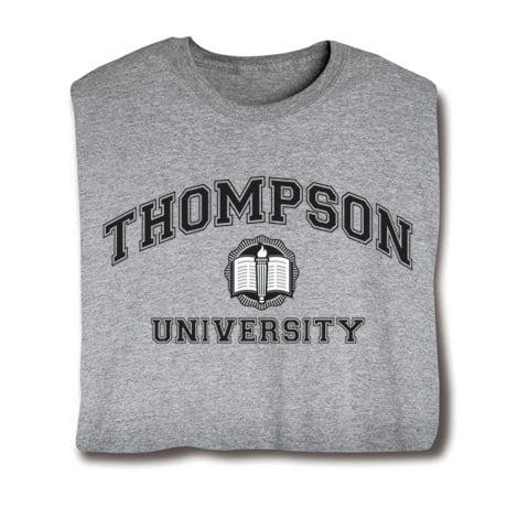 "Personalized ""Your Name"" University Shirt (Black)"