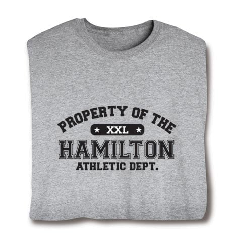 """Personalized Property of """"Your Name"""" XXL T-Shirt"""
