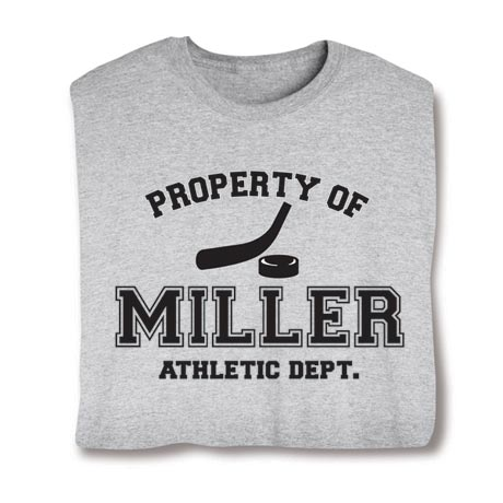 Personalized Property of 'Your Name' Hockey T-Shirt