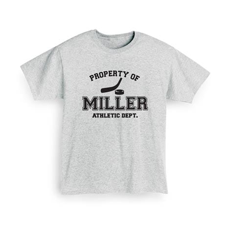 """Personalized Property of """"Your Name"""" Hockey T-Shirt"""
