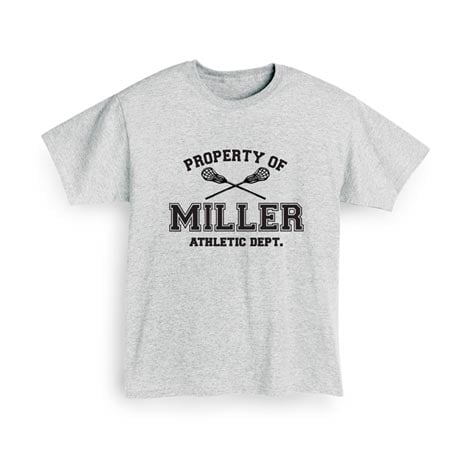 "Personalized Property of ""Your Name"" Lacrosse T-Shirt"
