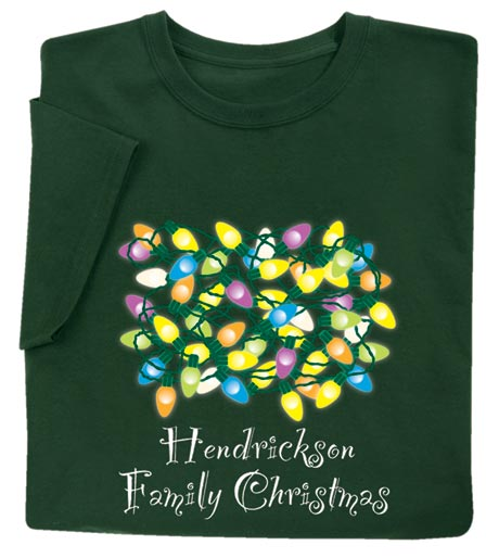 """Personalized """"Your Name"""" Family Christmas Shirt"""