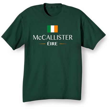 "Personalized ""Your Name"" Irish National Flag Shirt"