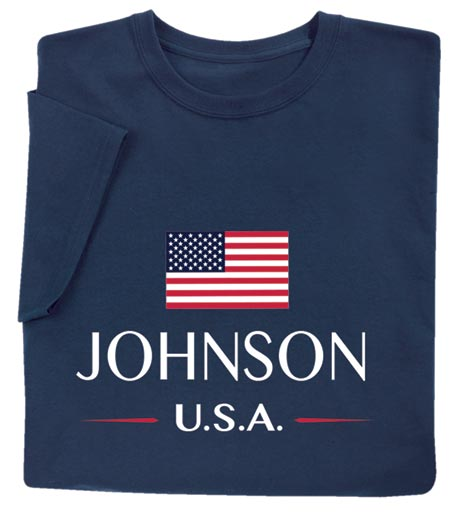 "Personalized ""Your Name"" USA National Flag Shirt"