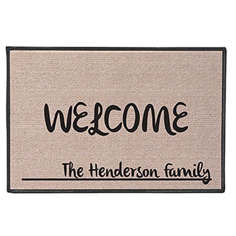 "Personalized ""Your Name"" Doormat -  Contemporary"