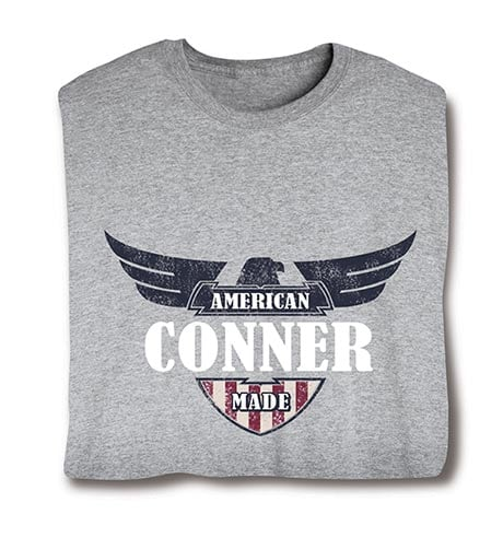 """Personalized """"Your Name"""" American Made Shirt"""