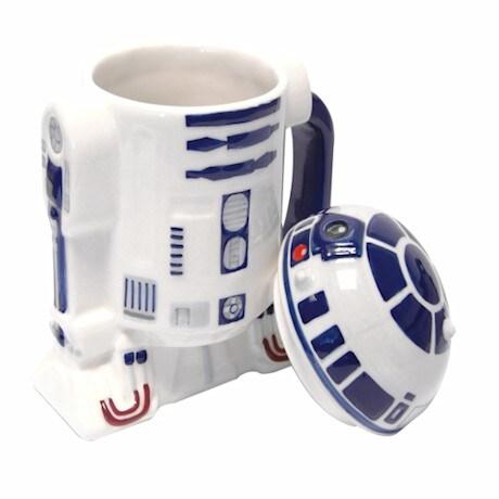 R2D2 Star Wars® 3-D Ceramic Lidded Mugs