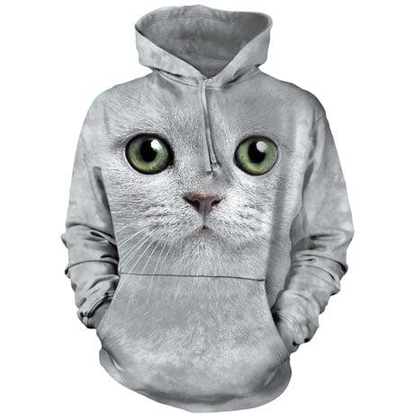 Green Eyes Cat Hoodie