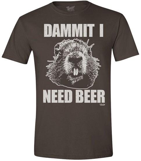 Animal Humor Tees- Beaver