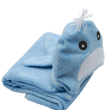 Hooded Children Towels- Whale