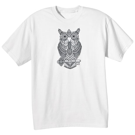 Color Your Own Tee- Owl