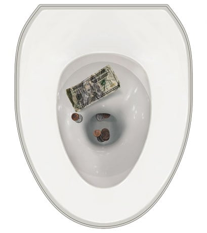 Toilet Tattoos- Money