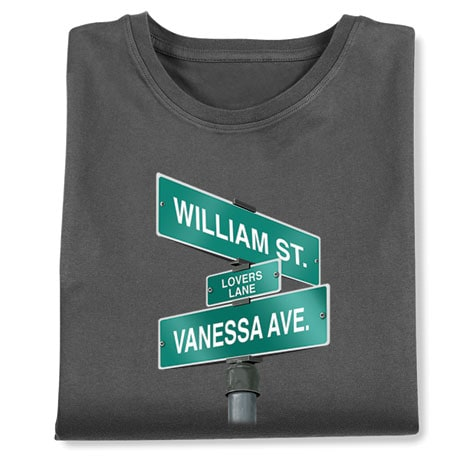 """Personalized """"Your Name"""" Lovers Lane Shirt"""