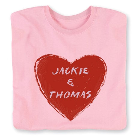Personalized 'Your Name' Couple Heart Shirt