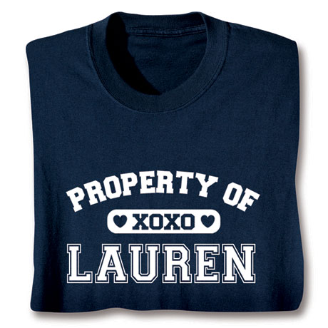 "Personalized Property of ""Your Name"" XoXo Shirt"