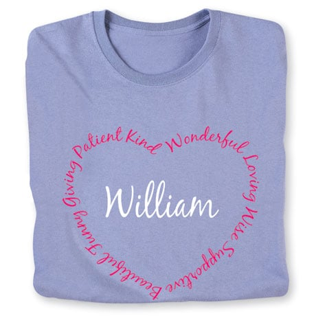 Personalized 'Your Name' Attributes Heart Shirt