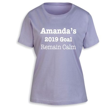 "Personalized ""Your Name""  Goal Shirt - Personal Goal"