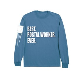 Best Ever Professions Long Sleeve Shirts- Postal Worker