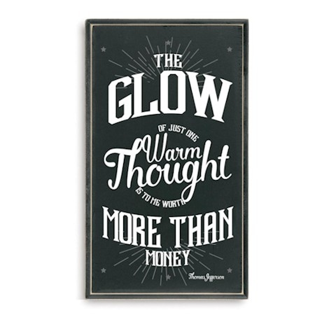 The Glow of One Thought Plaque