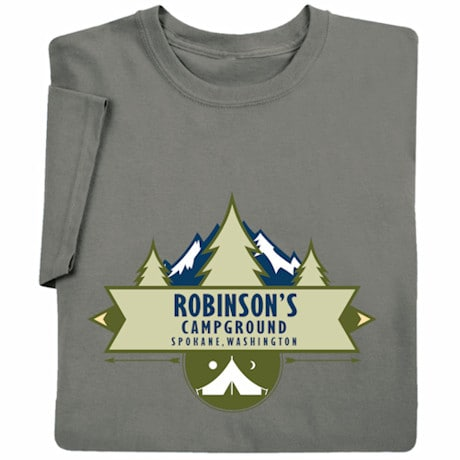 """Personalized """"Your Name"""" Camp Ground T-Shirt"""