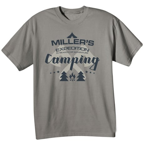 "Personalized ""Your Name"" Expedition Camping T-Shirt"