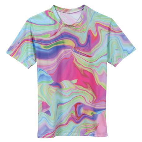 Color Swirl Sublimated T-Shirt