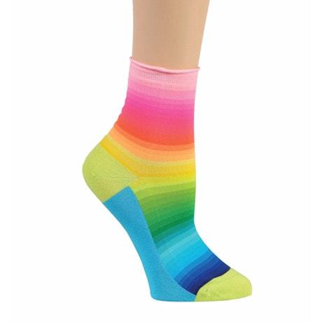 Ombre Color Spectrum Crew Socks