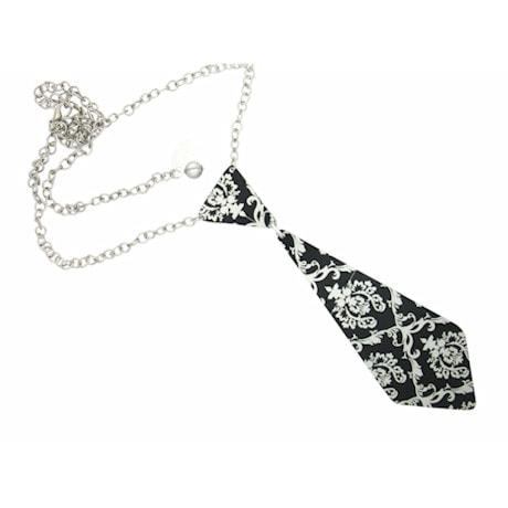 Aluminum Tie Necklace