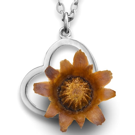 """The Blessing Flower"" Heart Necklace"