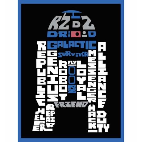 Star Wars™ Typography Canvas Print - R2D2