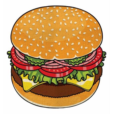 Round Beach Towel - Hamburger