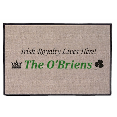 Personalized Royalty Lives Here Doormat - Irish