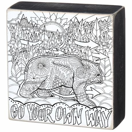 Color It Box Signs- Go Your Own Way