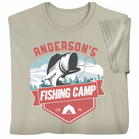 "Personalized ""Your Name"" Fishing Camp T-Shirt"
