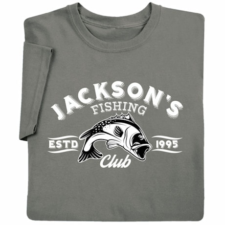 "Personalized ""Your Name"" Fishing Club T-Shirt"