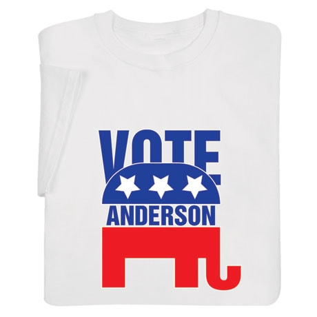 """Personalized """"Your Name"""" Election - Elephant Shirt"""