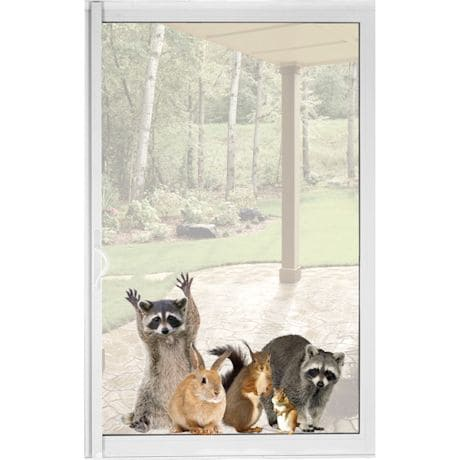 Woodland Animals Window Decal Cling - Raccoon & Friends Vinyl Sticker