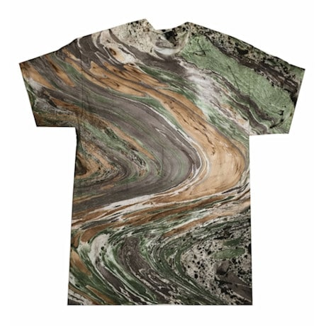 Marble Tie Dye T-shirt - Camo