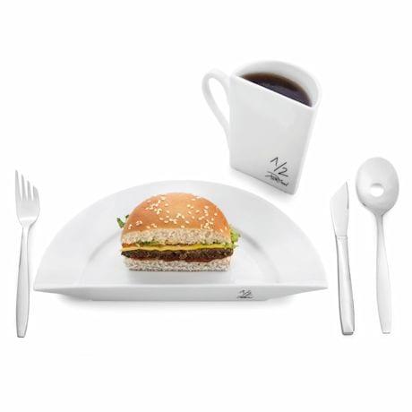 Portion Control Dinnerware- Half Plate