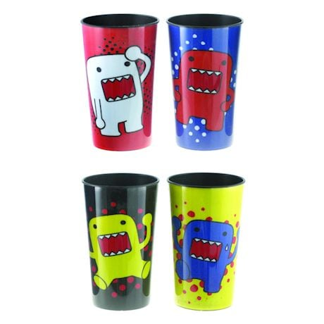 DOMO Multi-Colored Plastic Party Cups 4-Pack