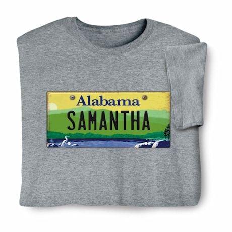 Personalized State License Plate Shirts - Alabama