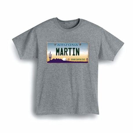 Personalized State License Plate Shirts - Arizona