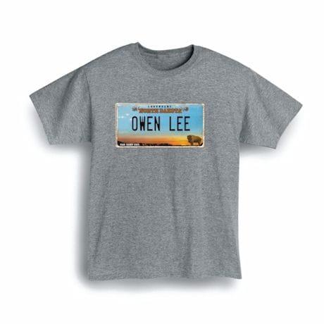Personalized State License Plate Shirts - North Dakota