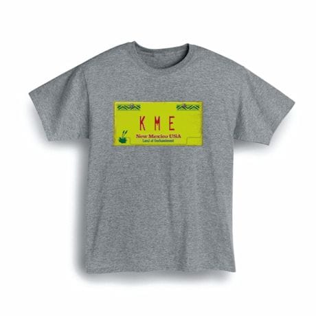Personalized State License Plate Shirts - New Mexico