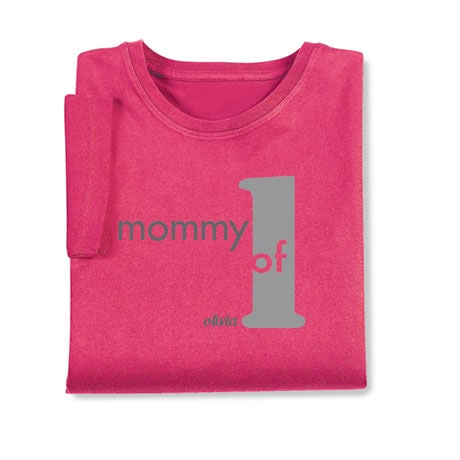 Personalized Mommy of 1 T-Shirt