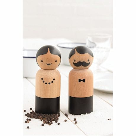 Mr. & Mrs. Shaker Salt & Pepper Grinder Set